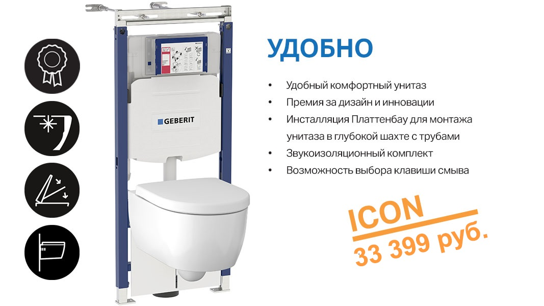 комплект GEBERIT ICON