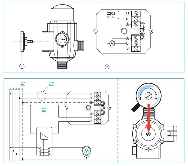 Блок автоматики джилекс схема подключения